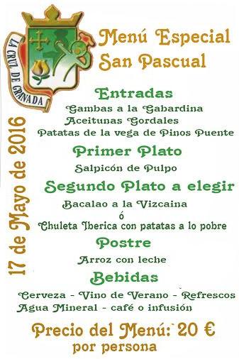 Menú San Pascual 2016